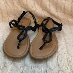 Sonoma Black Sandals.  Girls size 3.